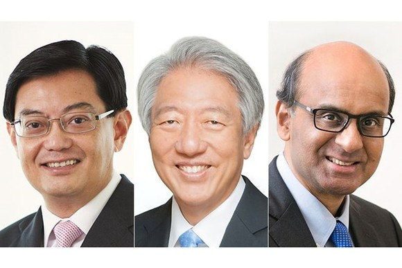 (From left) Heng Swee Keat , Teo Chee Hean and Tharman Shanmugaratnam  (Source: straitstimes.com)