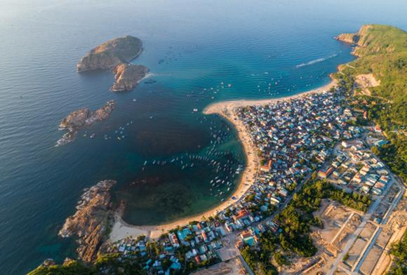 An aerial view of Hon Kho island (Photo: VNA)