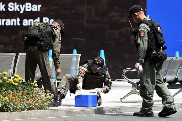 Security in Bangkok has been tightened after the bombings (Photo: AFP/VNA)