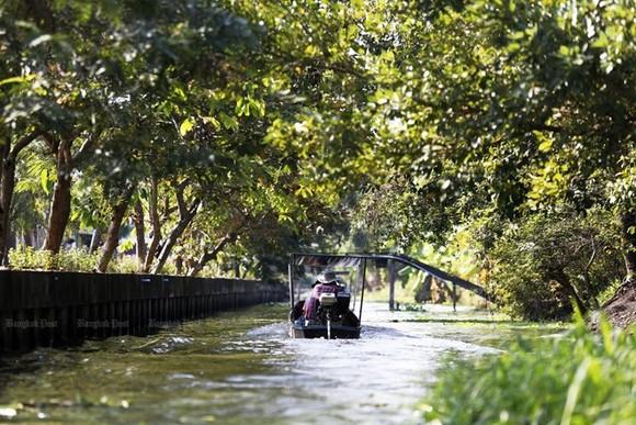 A boat in Klong Mahasawat in Nakhon Pathom province (Photo: www.bangkokpost.com)