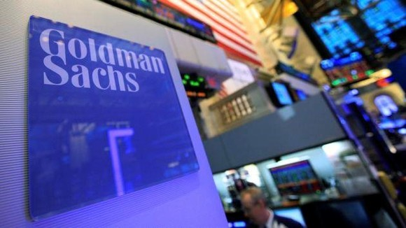A Goldman Sachs sign is seen on at the company's post on the floor of the New York Stock Exchange (Photo: Reuters)