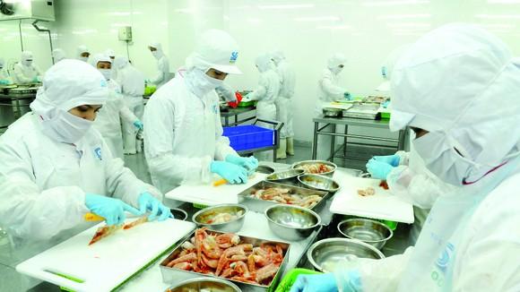 Chế biến thực phẩm tại Sài Gòn Food. Ảnh: CAO THĂNG