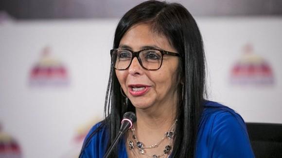 Bà Delcy Rodriguez. Ảnh: EPA/TTXVN