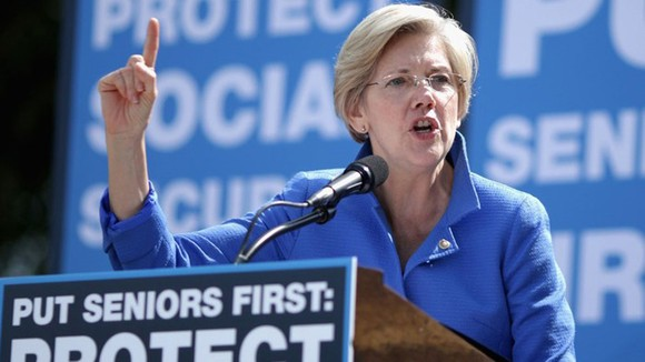 Thượng nghị sĩ Dân chủ Mỹ Elizabeth Warren. Ảnh: CNN