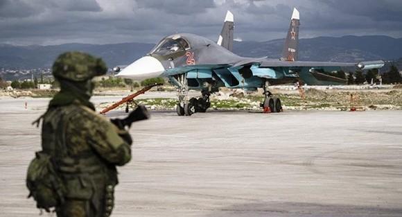 Máy bay chiến đấu của Nga tại căn cứ quân sự ở Syria. Ảnh: Sputnik