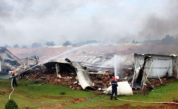 Hỏa hoạn thiêu rụi xưởng may ở Khu công nghiệp Thụy Vân ảnh 2