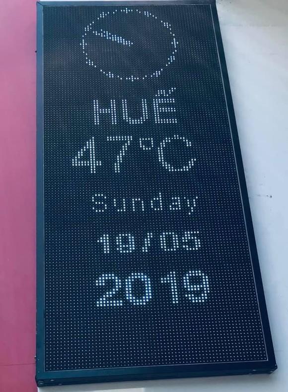 Choáng với nắng nóng 47 độ C tại Huế ảnh 1