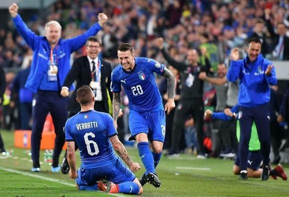 Itailia đang hồi sinh mạnh mẽ dưới quyền HLV Roberto Mancini. Ảnh: Getty Images