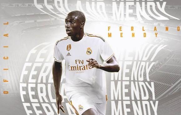 Ferland Mendy trở thành tân binh thứ 5 của Real Madrid trong mùa hè này. Ảnh: AS