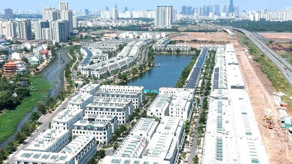 Dự án bất động sản tại quận 2.              Ảnh: CAO THĂNG
