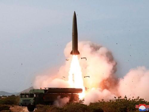 Hình ảnh một vụ phóng tên lửa của Triều Tiên . Ảnh: KCNA