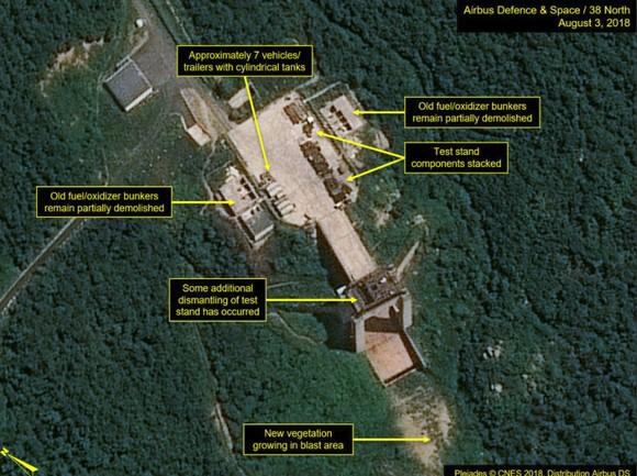 Trang 38 North: Triều Tiên không tiến hành dỡ bỏ thêm tại bãi thử tên lửa ảnh 1