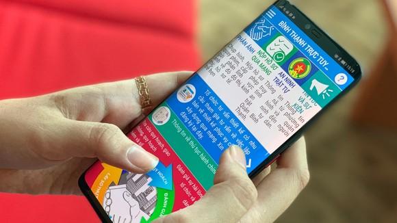 """Ứng dụng """"Bình Thạnh trực tuyến"""" trên thiết bị di động mang lại giá trị  cho người dân lẫn lãnh đạo quận Bình Thạnh trong giao tiếp, quản lý…"""