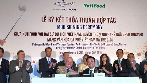 NutiFood bắt tay Greg Norman đưa cà phê Việt xuất khẩu