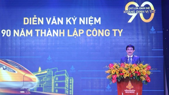 Ông Nguyễn Phương Đông, Chủ tịch Hội đồng Thành viên Công ty Thuốc lá Sài Gòn phát biểu tại buổi lễ