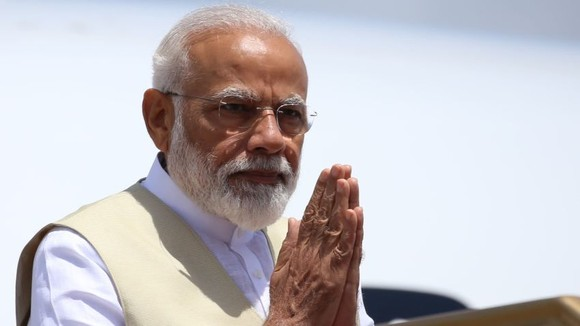 """Narendra Modi visits Sri Lanka in June 2019: if connectivity initiatives have to succeed, """"we must also build bridges of trust,"""" said Modi.   © NurPhoto/Getty Images"""