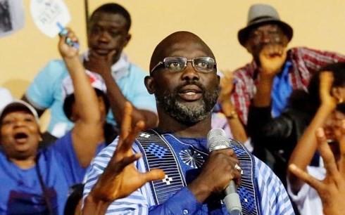 George Weah đắc cử Tổng thống Liberia. Ảnh: REUTERS