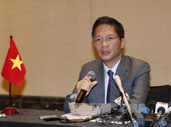 Bộ trưởng Bộ Công Thương Trần Tuấn Anh dẫn đầu đoàn Việt Nam tham dự cuộc họp. Ảnh: TTXVN