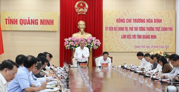 Phó Thủ tướng Trương Hòa Bình phát biểu tại buổi làm việc. Ảnh VGP