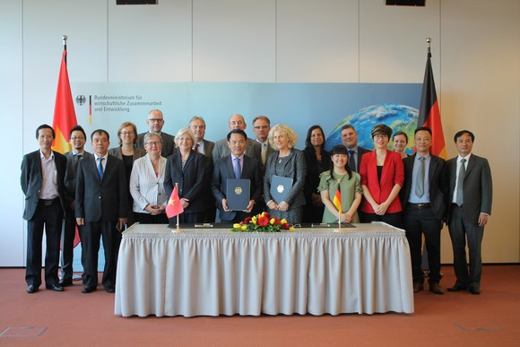 the Government Negotiations on development cooperation are held in Berlin, Germany.