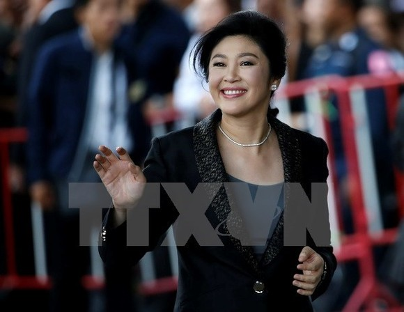 Thai government will revoke passports of former Prime Minister Yingluck Shinawatra, a fugitive after fleeing judgment in her rice scheme trial. (Photo: EAP/VNA)