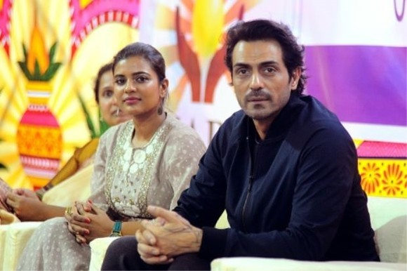 Bollywood actor Arjun Rampal (right) and actress Aishwarya Rajesh (left) star in the biopic 'Daddy' which depicts the life of notorious Mumbai mafia don Arun Gawli. — AFP Photo