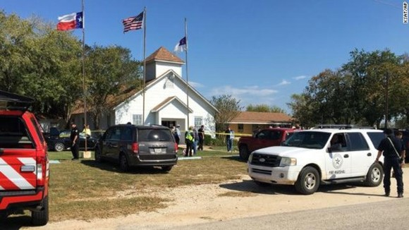 Scene of the shooting in Texas- NYP