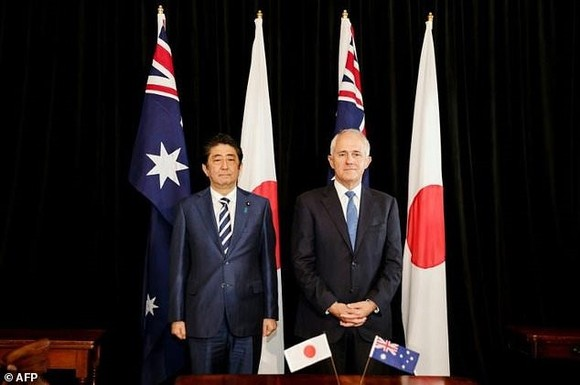 Japan and Australia are seeking to bolster their military ties amid spiking tensions in the region. — AFP/VNA