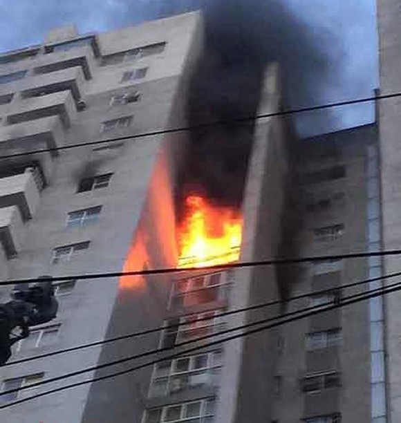 Fire breaks out at CT3 Bac Ha Apartment