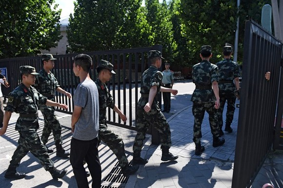 Chinese man sets off explosive outside US embassy: police