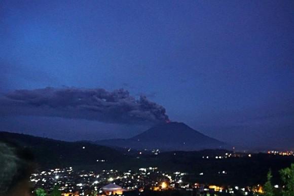 Mt. Agung volcano on Indonesia's Bali resort island erupts
