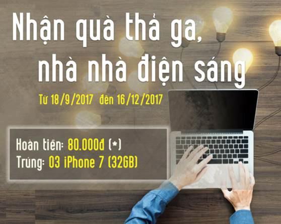Cơ hội nhận iPhone 7 khi thanh toán hóa đơn tiền điện qua VPBank Online ảnh 1