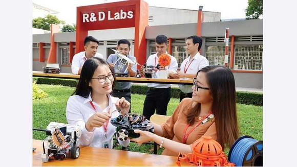 Không gian nghiên cứu, sáng tạo tại Công viên Phần mềm Quang Trung. Ảnh: VIỆT DŨNG
