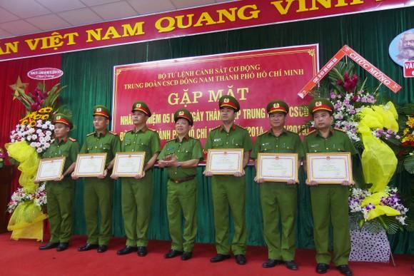 Kỷ niệm 5 năm thành lập Trung đoàn Cảnh sát cơ động Đông Nam TPHCM ảnh 1