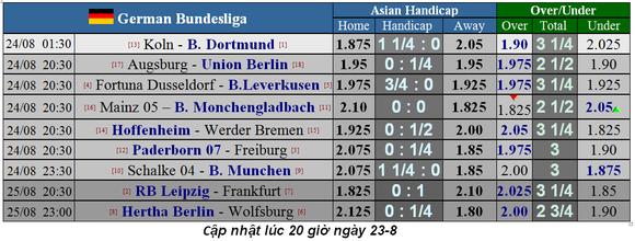 Lịch thi đấu giải Liga, Bundesliga, Serie A và Ligue 1 ngày 24-8 (Mới cập nhật) ảnh 5
