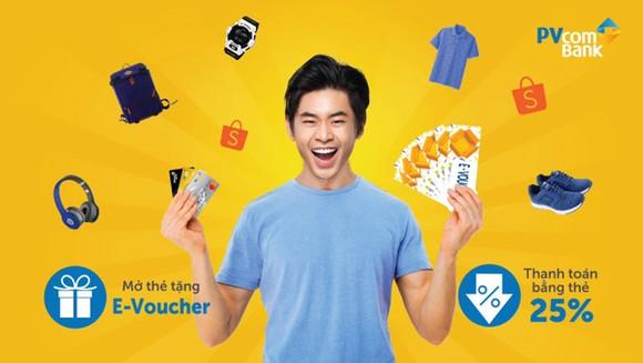 Giảm 25% tại Shopee với thẻ PVcomBank Mastercard