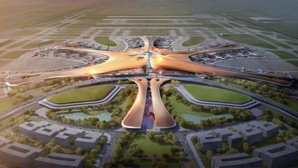 Sân bay quốc tế Bắc Kinh Daxing dự kiến mở cửa vào tháng 9 năm nay. Hình ảnh: Courtesy Zaha Hadid Architects
