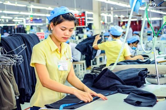Ngành dệt may Việt Nam khó hưởng lợi từ EVFTA, do phần lớn các doanh nghiệp Việt chỉ thực hiện công đoạn may, cắt chứ chưa sản xuất vải và sợi. Ảnh: LONG THANH