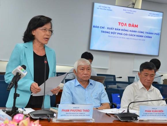 Bí thư Thành ủy TPHCM Nguyễn Thiện Nhân kêu gọi báo chí giám sát kết quả cải cách hành chính ảnh 3