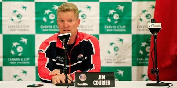 Jim Courier trong buổi họp báo mới đây