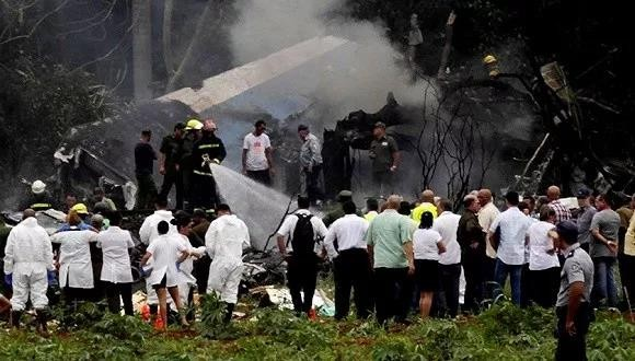 空難事故現場。