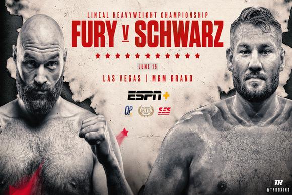 Tyson Fury sẽ đấu với Tom Schwarz vào cuối tuần này