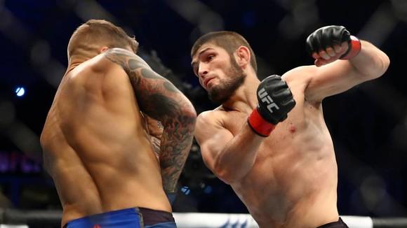 """UFC 242: """"Đại bàng Nga"""" Khabib lại lừa thế siết cổ khiến đối thủ phải đập tay xin hàng ảnh 1"""