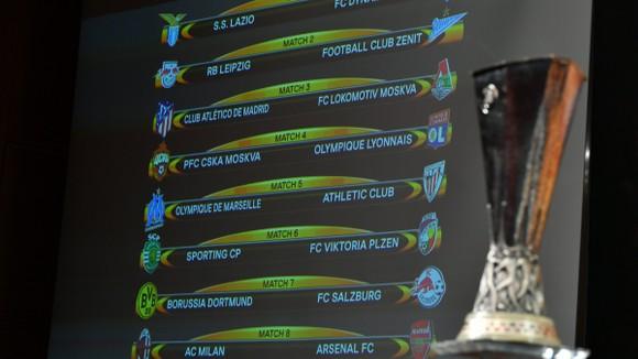 Kết quả bốc thăm vòng 16 đội Europa League.
