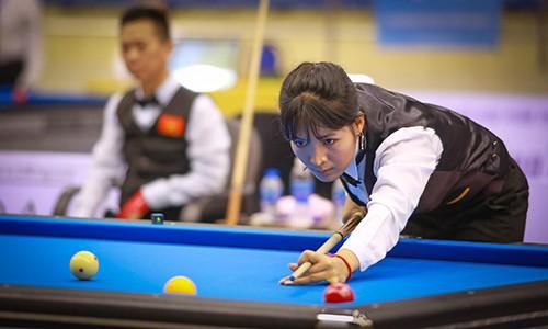 Cơ thủ xinh đẹp Srong Pheavy thể hiện tài năng ở giải Billiards carom châu Á 2019 ảnh 5