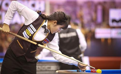 Cơ thủ xinh đẹp Srong Pheavy thể hiện tài năng ở giải Billiards carom châu Á 2019 ảnh 4
