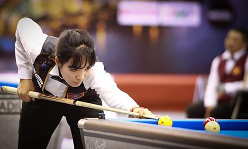Cơ thủ xinh đẹp Srong Pheavy thể hiện tài năng ở giải Billiards carom châu Á 2019 ảnh 6