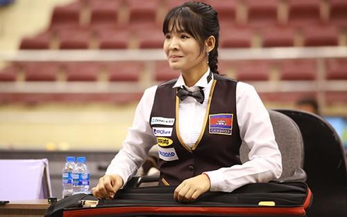 Cơ thủ xinh đẹp Srong Pheavy thể hiện tài năng ở giải Billiards carom châu Á 2019 ảnh 7