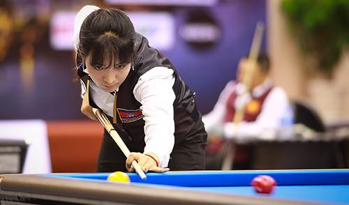 Cơ thủ xinh đẹp Srong Pheavy thể hiện tài năng ở giải Billiards carom châu Á 2019 ảnh 8