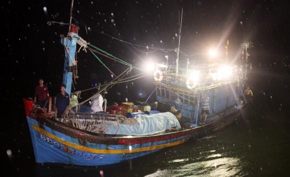 Tàu cá trên 1 tỷ bị sóng biển nhận chìm, 10 ngư dân thoát chết nhờ can nhựa... ảnh 1